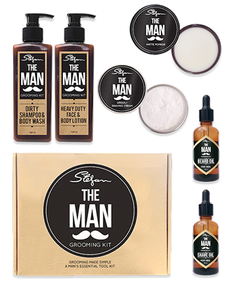 men s beard grooming kit australia the man grooming kit men 39 s hair beard online store the. Black Bedroom Furniture Sets. Home Design Ideas